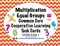 Browse over educational resources created by Math Mojo in the official Teachers Pay Teachers store. Common Core Math, Common Core Standards, Learning Centers, Math Centers, 2nd Grade Math, Third Grade, Math Classroom, Classroom Ideas, Math Task Cards