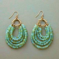 DIY Beaded Bead Earrings (not