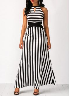 Cheap maxi Dresses online for sale Page 2 Cheap Maxi Dresses, Striped Maxi Dresses, Trendy Dresses, Women's Fashion Dresses, Cute Dresses, Casual Dresses, Fashion Clothes, Sleeveless Dresses, Spring Dresses