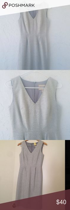 Banana Republic Grey Dress I got this from another Posher in great condition! I have never worn it because it does not fit me well. Soft fabric. I had it dry cleaned so it is ready to wear! First two photos are from original Posher. Banana Republic Dresses Midi