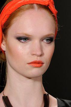 Orange lip color