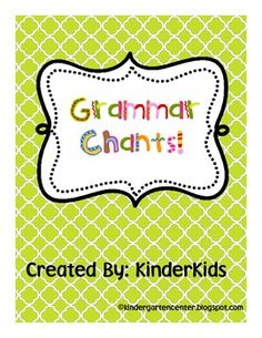 A Set of Grammar Chants to Help Students Remember Parts of Speech...