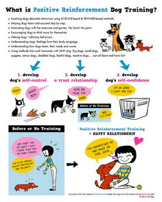 Positive Reinforcement Dog Training - Illustration by Lili Chin