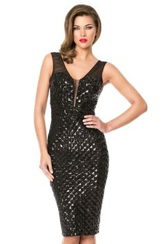Fabulous Sequin Cocktail Dress for your special night out! Look amazing in this delightful cocktail dress featuring 3D sequin pattern that showcases every curve of your body, creating a sophisticated look. http://shop.cristallini.com/cocktail/cristallini-ska224