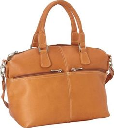 this bag is excellent and the price for this kind of leather unbelievable, but true! Le Donne Leather Classic Satchel Tan - via eBags.com!