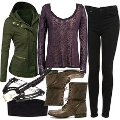 """""""Allison Inspired Hunting Outfit with Requested Jacket"""" by veterization on Polyvore"""