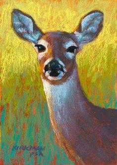 """Doe""  (pastel, 7x5 inches)  See progression shots on my blog!    Rita Kirkman"