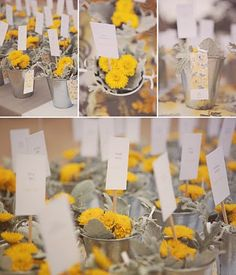 grey and yellow wedding | And how cute is this little guy?