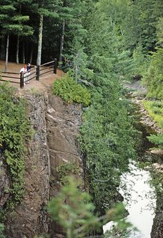 Copper Falls State Park boasts some of the most amazing waterfalls in the state.