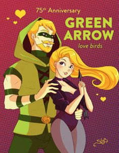 Green Arrow and Black Canary by Silice's Art