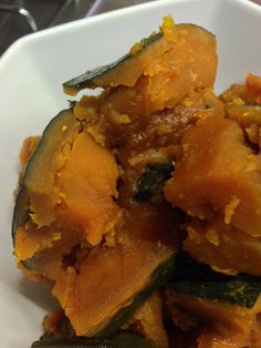 Japanese simmered pumpkin. Home cooking. Japanese food.