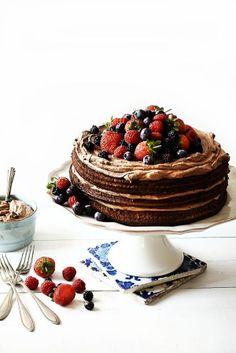 Naked cakes, tendencia para la tarta de boda #boda #tarta #ideas