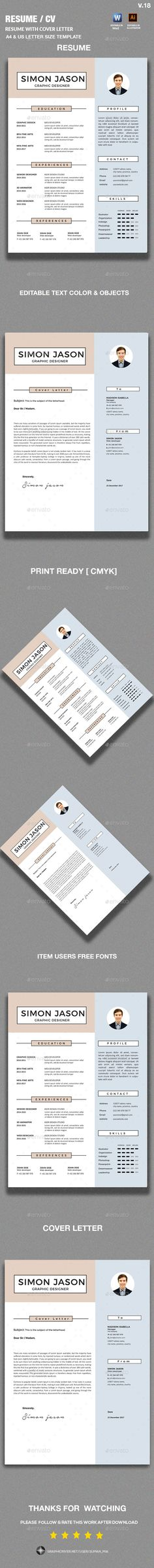 Resume for Marketing, Resume for Sales - Resume for Word Mac\/PC + - cover letter elements