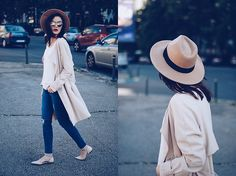 Get this look: http://lb.nu/look/8198853  More looks by Andreea Birsan: http://lb.nu/andreeabirsan  Items in this look:  Aldo Camel Hat, H&M Trench Coat, C&A White Blouse, Christian Dior So Real Sunglasses, Lft Skinny Distressed Jeans, Mango Beige Lace Up Flats   #casual #chic #minimal #andreeabirsan #couturezilla #spring #springlook #springoutfit #springootd