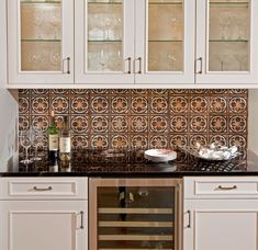 White Kitchens With Tin Back Splash | American Tin Ceilings Backsplash  Http://bit