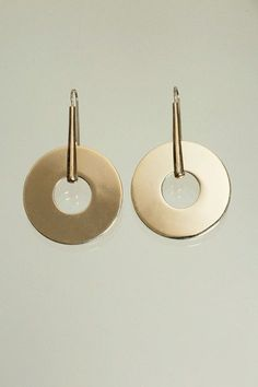 Trademark - Long Disc Drop Earrings | BONA DRAG