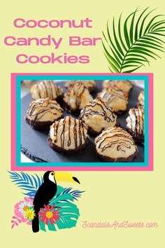 Candy Bar Cookies, Cookie Bars, Coconut Candy Bars, Cookie Recipes, Dessert Recipes, Coconut Macaroons, Coconut Recipes, Cheryl, Candies