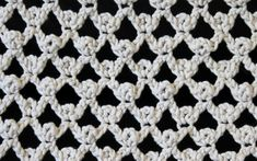 crochet lacy stitch close