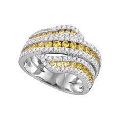 1 3-4CTW-Diamond YELLOW RING