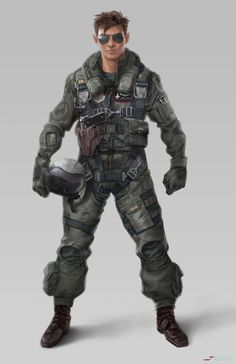 ArtStation - Fighter Pilot, Jordan Lamarre-Wan
