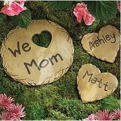 Personalized Small Heart Stepping Stone