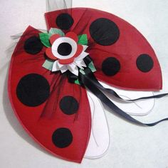 Ladybug Wings  Plush Wire Free by MerryEve on Etsy