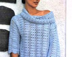 Pattern only crochet women summer blouse tunic mini by NinaZaida