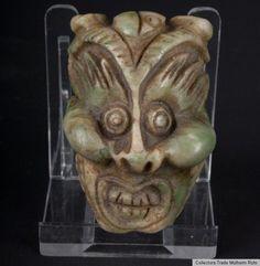 China 20. Jh. A Chinese Jade 'Mythical Beast' Belt Buckle - Giada Cinese Chinois