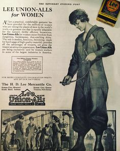 Lee Union-Alls for Women Industrial Workwear, Saturday Evening Post, Historical Images, The Millions, Work Wear, Baseball Cards, Vintage, Women, Outfit Work