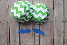 50 piece chevron cupcake liners and alligator by MoosesCreations
