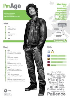 Resume 2012 by AGOSTINO Biagiarelli, via Behance