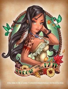 Princess Disney Tattoo Pocahontas -- I love this!
