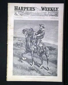 "Harper's Weekly, October 1886 ""In from the Night Herd"""