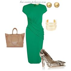 """Work Dress Chic"" by lisa-eurica on Polyvore"