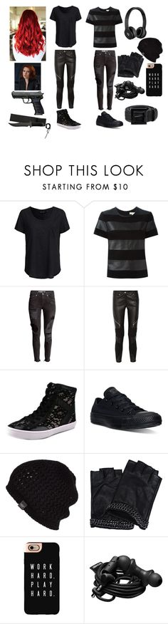 """Scarlett Romanoff, daughter of Black Widow"" by frootloop16 ❤ liked on Polyvore featuring New Look, MICHAEL Michael Kors, H&M, Givenchy, Rebecca Minkoff, Converse, Beats by Dr. Dre, UGG Australia, Karl Lagerfeld and Casetify"