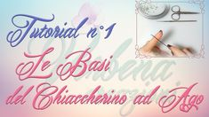 Chiacchierino ad Ago: TUTORIAL 01 - Le Basi - needle tatting for beginners Tatting Tutorial, Elephant Earrings, Needle Tatting, Tatting Patterns, Back To Work, Verbena, Flower Tutorial, Giveaway, Place Card Holders