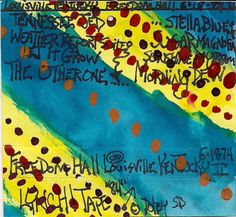 """Kentucky Dead"" Grateful Dead @ Freedom Hall 6-18-1974 original cassette tape case art by J.Blueberries."