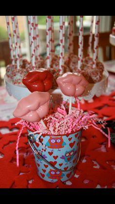 Hot Lip candy Lollipops