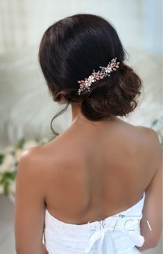 Hair Accessories in Rose Gold Meeting Any Wedding Theme Ideas #topgraciawedding #hairaccessories #rosegold #gold #wedding #bridalhair