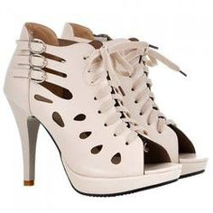 6fc377a9a Fashionable Hollow Out and Buckles Design Peep Toe Shoes For Women Peep Toe  Heels, Toe