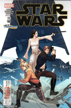Star Wars comic (Marvel) - Princess Leia, Luke Skywalker and Han Solo in front… Star Wars Rebels, Star Wars Holonet, Star Wars Comics, Starwars, Movies And Series, Mike Deodato, The Force Is Strong, Harrison Ford, Star Wars Poster