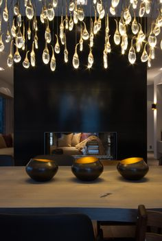 Private Villa in Oslo, Norway. Designed by Metropolis arkitektur & design AS. Oslo, Norway, Villa, Chandelier, Ceiling Lights, Lighting, Interior, Projects, Design