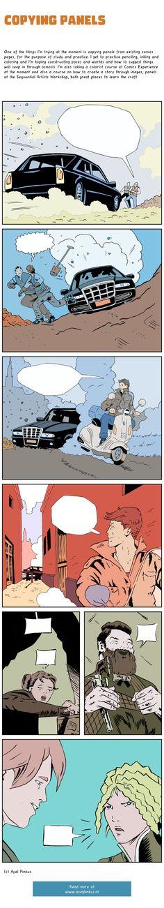 Copying panels - a comic by Ayal Pinkus