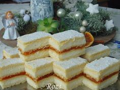 Hungarian Desserts, Hungarian Recipes, Cream Cheese Bread, Cookie Recipes, Dessert Recipes, Salty Snacks, Cake Bars, Sweet And Salty, Cake Cookies