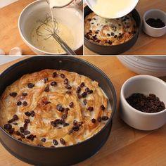 Phyllo Custard Pie with Hazelnut Raisins (Milk Pie)