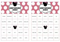 #Minnie #Mouse #Baby #Shower #Bingo Cards Prefilled Words -Minnie Mouse Bingo Gift Baby Shower-Printable Disney Baby Shower Game-Instant Download by 2RabbitsPrintEnjoy on Etsy