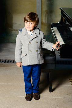 Grey coat for boys