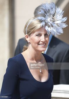 Sophie Countess Of Wessex Attends The Traditional Easter Church Service At Windsor Castle.