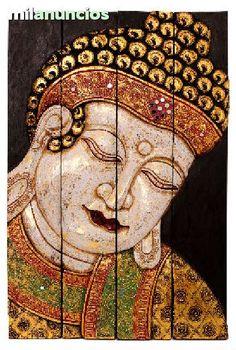 Originales biombos tallados y pintados a mano por artesanos de la isla de Bali, con sus tecnicas artesanales que le da profundidad y textura a la imagen. Medidas: 60x40cm  PVP: 55 euros