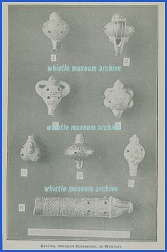 Ancient Pre- Columbian whistles documented in an 1896 article by Wilson, 8 samples.